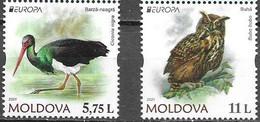 MOLDOVA, 2021, MNH, EUROPA, ENDANGERED WILDLIFE, BIRDS, 2v - 2021