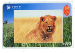 Télécarte China Unicom : Lion(s) - Giungla