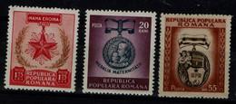 ROMANIA 1952 INTERNATIONAL WOMEN'S DAY MI No 1391-3 MLH VF!! - Nuevos
