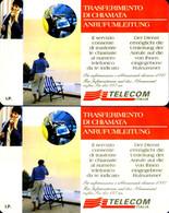 G AA 48/49 C&C 2481/2482 2 SCHEDE TELEFONICHE NUOVE MAGNETIZZATE TRASFERIMENTO - Pubbliche Speciali O Commemorative