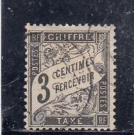 France - Année 1881-92 - N°YT 12 Oblitéré - 3c Noir - Type Duval - 1859-1955 Used