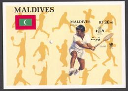 Maldives, 1988, Olympic Summer Games Seoul, Tennis, MNH Imperforated, Michel Block 144B - Maldives (...-1965)