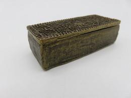 787 - Petit Coffre Sarcophage En Bronze - Poinçon M Cerclé - Bronzi