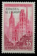 FRANKREICH DIENSTMARKEN EUROPARAT Nr 1 Postfrisch S044E86 - Mint/Hinged