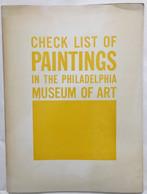 Check List Of Paintings In The Philadelphia - Non Classificati