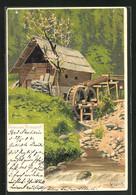 Künstler-AK Alfred Mailick: Fröhliche Pfingsten, Wassermühle - Mailick, Alfred