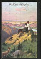 Künstler-AK Alfred Mailick: Liebespaar Blickt Ins Tal - Mailick, Alfred
