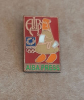 2004 Athens Olympic Games, AIBA Press With Mascot Athena Pin, Wrong Colors Or Sample?? - Jeux Olympiques