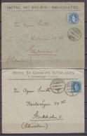 Schweiz 3x Stehende Helvetia MiNo. 67 Auf Vordruck-Auslandsbriefen 1905 Nach Schweden, Rs.Ak-o - Briefe U. Dokumente