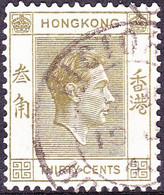 HONG KONG 1938 KGVI 30c Yellow-Olive SG151 Used - Used Stamps