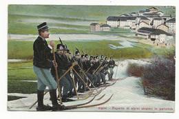 ( 4343) Italie ALPINI - REPARTO DI ALPINI SKIATORI IN PARTENZA - War 1914-18