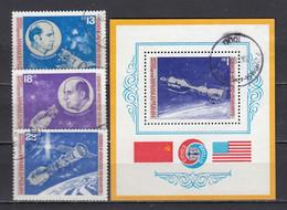 Bulgaria 1975 - Space Travel Sojus-Appolo, Mi-Nr. 2418/20+Bl. 59, Used - Gebraucht