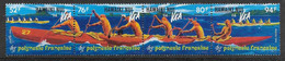 1994 POLYNESIE FRANCAISE 464-67** Course De Pirogues - Unused Stamps