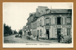 """MANTES-LA-VILLE  (78) : """" ROUTE DE HOUDAN - Maison  COTTY, Café """" - Mantes La Ville"""
