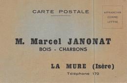 """La Mure - Marcel Janonat - Bois, Charbons - Carte """"Bon De Commande """" - La Mure"""