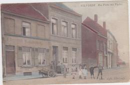 Vilvoorde - Koepoortstraat  (Allecourt) (gekleurde Versie) (met Duitse Afstempelingen Uit 1915) PRACHTKAART - Vilvoorde