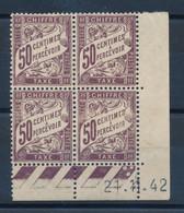FRANCE - COIN DATE DU 21 NOVEMBRE 1942 TAXE N°37 NEUF* AVEC CHARNIERE - Portomarken
