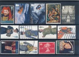 GRANDE BRETAGNE - LOT DE 13 TIMBRES OBLITERES - Collections