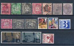 GRANDE BRETAGNE - LOT DE 16 TIMBRES OBLITERES - Collections
