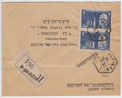HERAULT LAC 1951 BEZIERS E RECETTE AUXILIAIRE URBAINE EN LETTRE RECOMMANDEE - 1921-1960: Modern Period