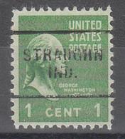 USA Precancel Vorausentwertungen Preos, Locals Indiana, Straughn 703 - Vorausentwertungen