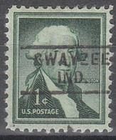 USA Precancel Vorausentwertungen Preos, Locals Indiana, Swayzee 729 - Vorausentwertungen