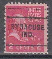USA Precancel Vorausentwertungen Preos, Locals Indiana, Syracuse 703 - Vorausentwertungen