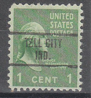 USA Precancel Vorausentwertungen Preos, Locals Indiana, Tell City 734 - Vorausentwertungen