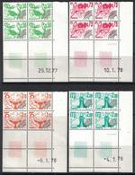 PREO - SIGNES DU ZODIAQUE - N°150-151-152-153 - BLOC DE 4 - COIN DATE - COTE 27€50 - Vorausentwertungen