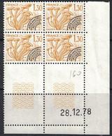 PREO - CHAMPIGNON - N°160 - BLOC DE 4 - COIN DATE - DU 28-12-1878 - COTE 5€. - Vorausentwertungen