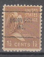 USA Precancel Vorausentwertungen Preos, Locals Indiana, Union City 704 - Vorausentwertungen