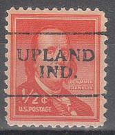 USA Precancel Vorausentwertungen Preos, Locals Indiana, Upland 701 - Vorausentwertungen