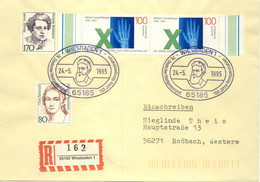 517  Röntgen: Oblit. Temp. D'Allemagne, 1995 - Roentgen Wiesbaden Cancel. X-Rays Radiographie Physique Nobel - Fisica