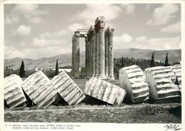 CPSM Athènes-Temple De Zeus Olympien-Beau Timbre   L970 - Grèce