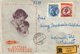 D - [904515]B/TB//-Autriche  - Recommandé, Montgolfières, Personnalités - 1945-60 Brieven