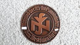 Plakette WHW Mitglied D. NS Volkswohlfahrt Gau Westfalen Nord DAF Abzeichen Deutsches Reich - 1939-45