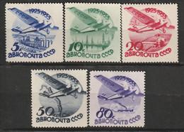 RUSSIE - PA N°41/5 * (1934) Monoplan Survolant Des Paysages - Nuovi