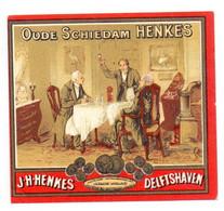 Etiket Etiquette - Jenever Genever Genièvre - Oude Schiedam Henkes - Delftshaven - Unclassified