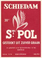 Etiket Etiquette - Jenever Genever Genièvre - Schiedam - St Pol - Kortrijk - Unclassified