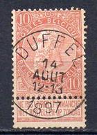 57 Gestempeld  DUFFEL - COBA 4 Euro - 1893-1900 Barbas Cortas
