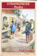 Etiket Etiquette - Jenever Genever Genièvre - Citroenjenever Mouliez Busschaert - Kortrijk - Unclassified