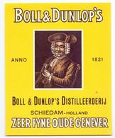 Etiket Etiquette - Jenever Genever Genièvre - Boll & Dunlop's Distilleerderij - Schiedam - Unclassified