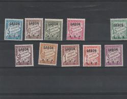 Gabon Yvert Taxe Série 1 à 11 SAUF 5 * Neufs Avec Charnière   - 2 Scan - Impuestos