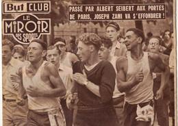 BUT CLUB LE MIROIR DES SPORTS 354 1952 VELO BOUCLES DE LA SEINE AUTO 24 H DU MANS MARCHE STRASBOURG PARIS BOXE NEW YORK - Sport