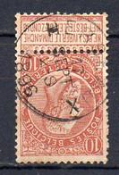 57 Gestempeld HERSEAUX - COBA 30 Euro - 1893-1900 Thin Beard