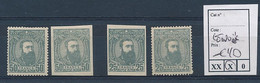 BELGIAN CONGO 1887 ISSUE COB 13A/13B LENOIR'S REPRINTS WITH GUM (LH) OR NOT - 1884-1894 Precursori & Leopoldo II