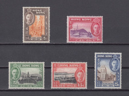 Hong Kong 1941 Centenary Stamps 5 Values,Scottl# 168-172, MNH,VF - Unused Stamps