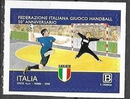 ITALY, 2019, MNH, SPORTS, HANDBALL 50th ANNIVERSARY OF ITALIAN HANDBALL FEDERATION,   1v - Pallamano