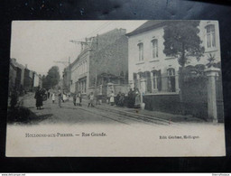 Hollogne Aux Pierres - Rue Grande - Animée - Ed: Gérôme, Hollogne - 2 Scans - Grâce-Hollogne