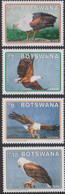 BOTSWANA, 2021, MNH, BIRDS, FISH EAGLES, 4v - Eagles & Birds Of Prey
